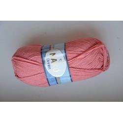 Nako Моточная пряжа Denim материал  смесовка цвет коралл 11452