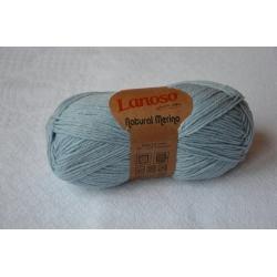 Lanoso Моточная пряжа Natural Merino материал  смесовка голубой 940