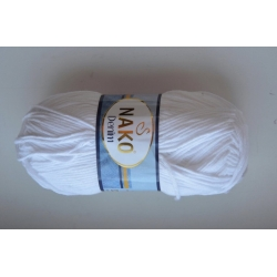 Nako Моточная пряжа Denim материал  смесовка цвет белый 208