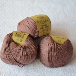Gazzal Fancy Yarns Моточная пряжа Organic Baby Cotton материал  органическиий хлопок цвет капучино 433