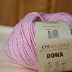 Fibranatura Моточная пряжа Dona материал меринос цвет розовая пудра 106-12