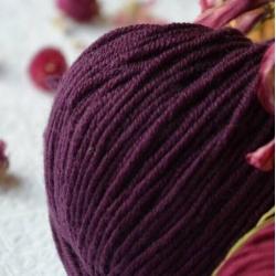 Fibranatura Моточная пряжа Dona материал меринос цвет виноградный 106-17