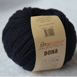 Fibranatura Моточная пряжа Dona материал меринос цвет темно-синий 106-24