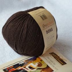 Fibranatura Моточная пряжа Dona материал меринос цвет коричневый 106-29