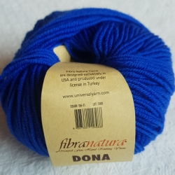 Fibranatura Моточная пряжа Dona материал меринос цвет ярко-синий 106-21