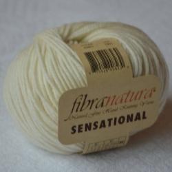 Fibranatura Моточная пряжа Sensational материал меринос цвет молочный 40801