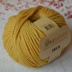 Fibranatura Моточная пряжа Inca материал меринос цвет горчица 43007