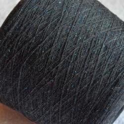 New Mill Пряжа на бобинах Mabot материал меринос цвет   черный с мятными вкраплениями