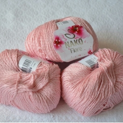 Nako Моточная пряжа Fiore материал  смесовка цвет розовый 11242