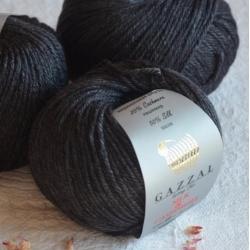 Gazzal  Моточная пряжа Silk&Cashmere  материал  кашемир+шелк цвет антрацит 455