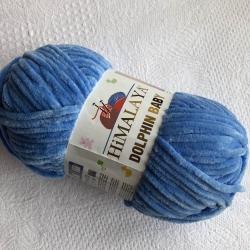 Himalaya Моточная пряжа Dolphin Baby материал  смесовка цвет сине-голубой 80327