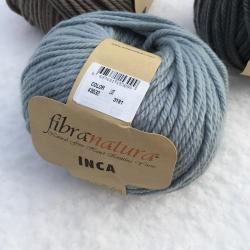 Fibranatura Моточная пряжа Inca материал меринос цвет голубой с серым подтоном 43032