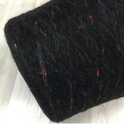Filitaly-lab Пряжа на бобинах Clown материал альпака цвет черный