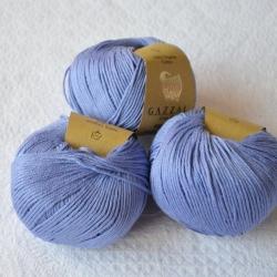 Gazzal Fancy Yarns Моточная пряжа Organic Baby Cotton материал  органическиий хлопок цвет лаванда 428