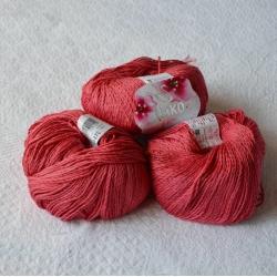 Nako Моточная пряжа Fiore материал  смесовка цвет ягодный 11670