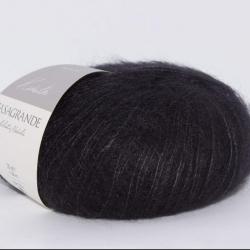 Casagrande Моточная пряжа Kidsilk материал кидмохер, шелк цвет фиолетовый черный 22
