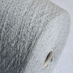 New Mill Пряжа на бобинах Regent Lux материал кашемир цвет  туман с серебром