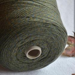 New Mill Пряжа на бобинах Magreb материал меринос цвет  мулине  оливковый с джинсовым