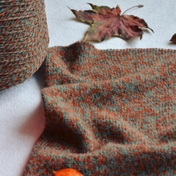 New Mill Пряжа на бобинах Magreb материал меринос цвет  мулине нефрит, табак, терракот