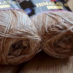 Himalaya Моточная пряжа Denim материал  хлопок цвет  бежевый 115-22