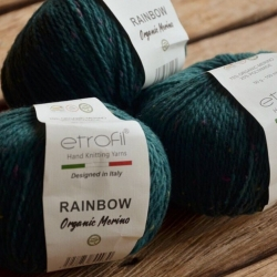 Etrofil Моточная пряжа Rainbow материал  меринос+полиамид цвет зеленый RN163