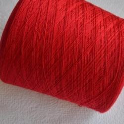 Biella Yarn  Пряжа на бобинах Victoria 2/30 материал меринос  цвет красный