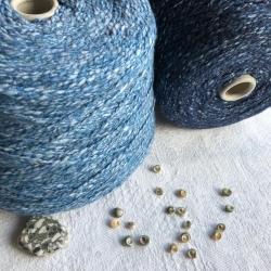 New Mill Пряжа на бобинах Scubidu материал хлопок лен цвет темно-синий
