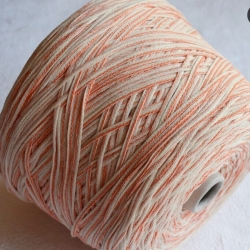 Fashion Mill Пряжа на бобинах Marabu материал хлопок цвет молочный с апельсином