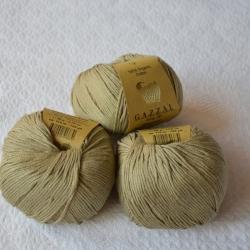 Gazzal Fancy Yarns Моточная пряжа Organic Baby Cotton материал  органическиий хлопок цвет олива 431