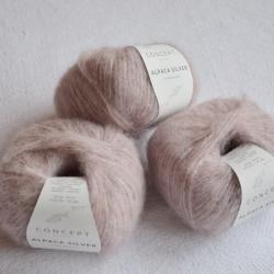 Katia Моточная пряжа Alpaca Silver материал   альпака цвет  light pink-silver 252