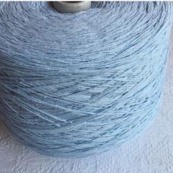 Fashion Mill Пряжа на бобинах Melampo материал хлопок цвет нежно-голубой