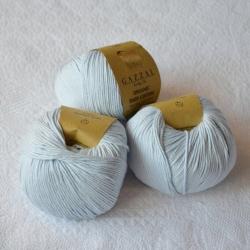 Gazzal Fancy Yarns Моточная пряжа Organic Baby Cotton материал  органическиий хлопок цвет талая вода 417