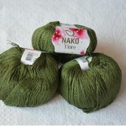 Nako Моточная пряжа Fiore материал  смесовка цвет олива 11240