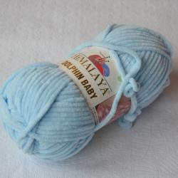 Himalaya Моточная пряжа Dolphin Baby материал  смесовка цвет нежный голубой 80306
