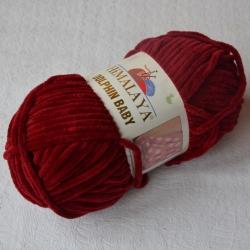 Himalaya Моточная пряжа Dolphin Baby материал  смесовка цвет красное вино 80322