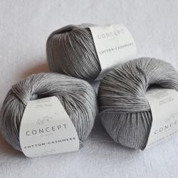 Katia Моточная пряжа Cotton-Cashmere материал  кашемир+хлопок цвет grey 59