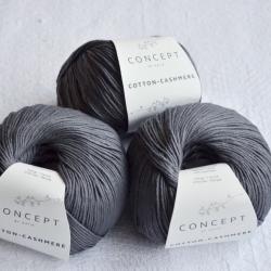 Katia Моточная пряжа Cotton-Cashmere материал  кашемир+хлопок цвет dark grey 61