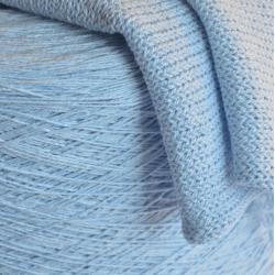 Fashion Mill Пряжа на бобинах Melampo материал хлопок цвет нежно-голубой с пепельным мулине