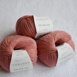 Katia Моточная пряжа Cotton-YAK материал  хлопок+як цвет coral 109
