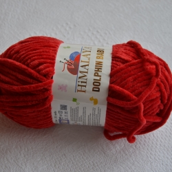 Himalaya Моточная пряжа Dolphin Baby материал  смесовка цвет красный 80352