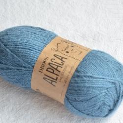 Drops Моточная пряжа Alpaca материал альпака  голубой джинс 6309