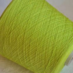 New Mill Пряжа на бобинах Lustroso материал лен цвет лайм