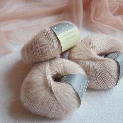 Casagrande Моточная пряжа La Perla материал альпака, шелк цвет пудра