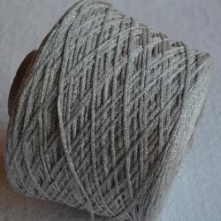 Lanificio del Olivio Пряжа на бобинах Brilo материал вискоза цвет серебро