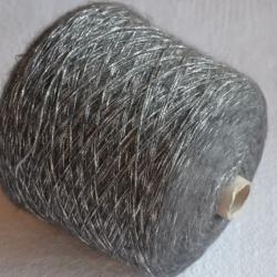 Lagopolane Пряжа на бобинах Brillo материал смесовка цвет  серый с золотом