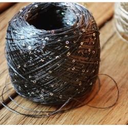 Cofil Пряжа на бобинах Pailetes материал пайетки темно-серый