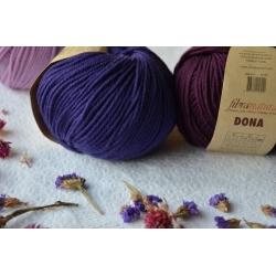 Fibranatura Моточная пряжа Dona материал меринос цвет фиолет 106-18