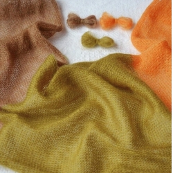 Igea Пряжа на бобинах Astro материал кидмохер цвет горчица
