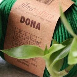 Fibranatura Моточная пряжа Dona материал меринос зелень 106-26