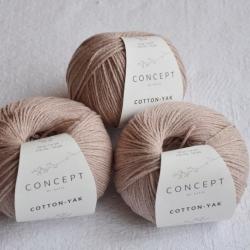 Katia Моточная пряжа Cotton-YAK материал  хлопок+як цвет pearl pink 108